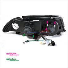Load image into Gallery viewer, Spec-D Projector Headlights BMW E46 Sedan [Dual Halo LED] (99-01) Black Housing
