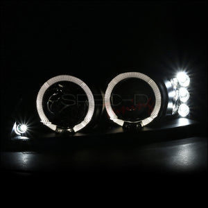Spec-D Projector Headlights Ford Mustang [Halo LED] (99-04) Black or Chrome