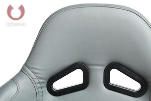 Cipher Auto Leatherette Seats (Gray - Sold as a Pair - Reclining) CPA1001PGY
