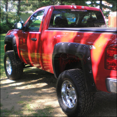Spec-D Fender Flares Chevy Silverado Fleetside (2007-2013) 1500/2500HD/3500HD 5.8' Bed