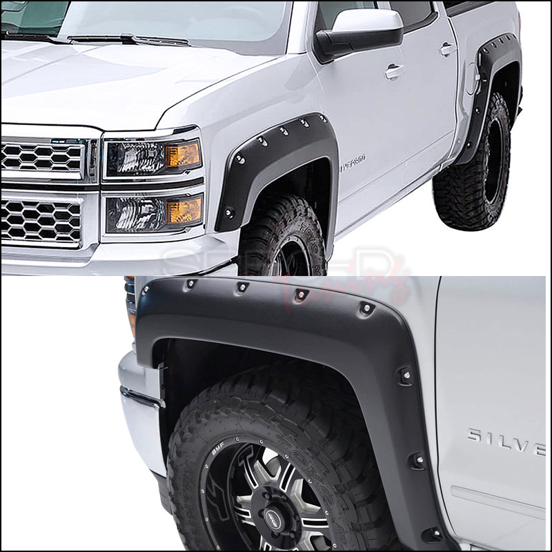 Spec-D Fender Flares Chevy Silverado [5.8' Short Bed] (2014-2016) 5.8' Bed Only