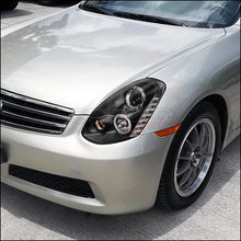 Load image into Gallery viewer, Spec-D Projector Headlights Infiniti G35 Sedan [Halo] (2005-2006) Black or Chrome