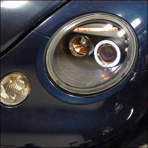 Spec-D Projector Headlights VW Beetle [Halo Black] (98-05) LHP-BEE98JM-TM