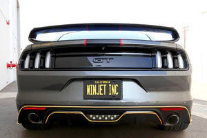 Winjet LED Tail Lights Ford Mustang (2015-2019) Sequential Turn Signal - Gloss Black