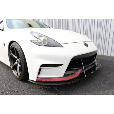 APR Front Splitter Nissan 370Z Nismo Bumper [w/ Support Rods] (15-18) CW-357015