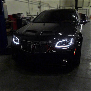 Spec-D Projector Headlights Pontiac G8 [LED DRL] (08-09) Black or Chrome