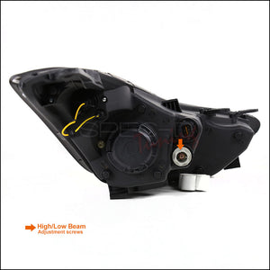 Spec-D Projector Headlights Hyundai Elantra [LED DRL] (2011-2013) Black or Chrome