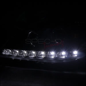 Spec-D Projector Headlights Mercedes ML [LED DRL] (98-01) Black or Chrome