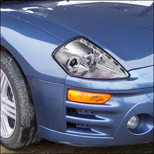 Spec-D Projector Headlights Mitsubishi Eclipse [LED Halo] (00-05) Black or Chrome