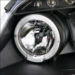 Spec-D Projector Headlights Chevy Cobalt / G5 [Dual Halo LED] (05-10) Black Housing