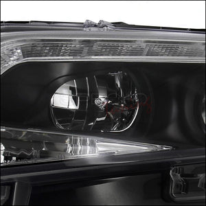 Spec-D Projector Headlights Ford Fusion w/ LED DRL (2010-2011-2012) Black, Tinted or Chrome