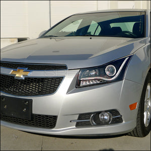 Spec-D Projector Headlights Chevy Cruze [Halo LED] (2011-2014) Black or Chrome Housing