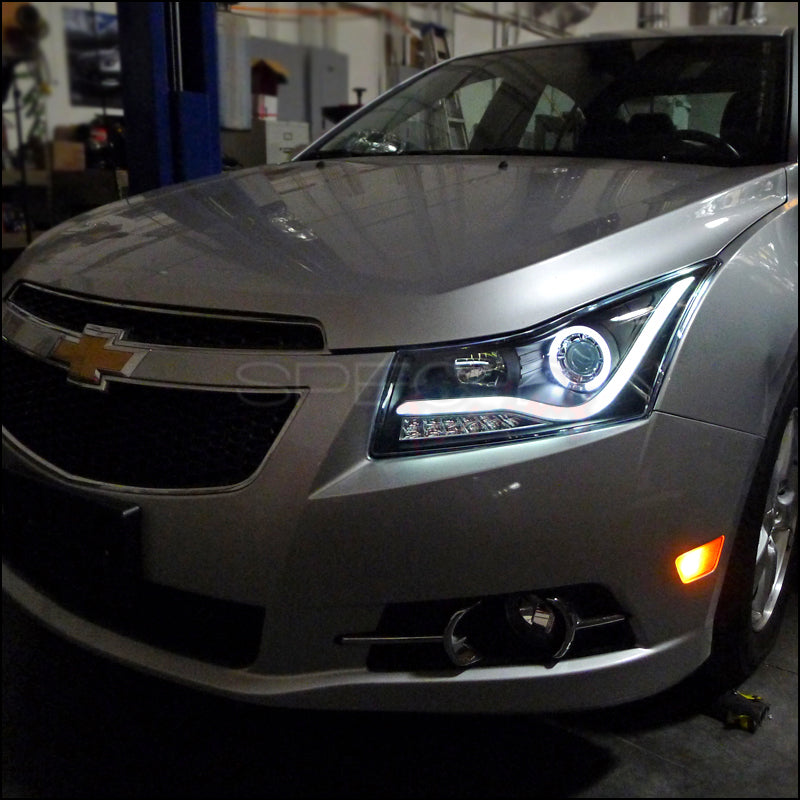 2013 Chevy Cruze For Sale >> Spec-D Projector Headlights Chevy Cruze [Halo LED] (2011-2014) Black H – Redline360
