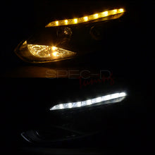 Load image into Gallery viewer, Spec-D Projector Headlights Ford Focus [DRL LED Black] (2012-2014) Black Housing