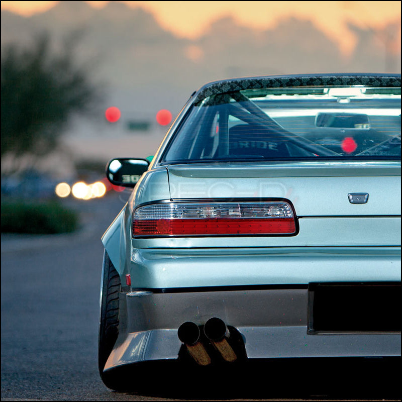Spec-D Tail Lights Nissan 240SX S13 Coupe [Red LED] (89-94)  LT-S13892RCLED-TM