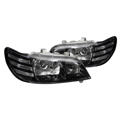 Spec-D OEM Replacement Headlights Acura CL [Black] (97-99) LH-CL97JM-DP