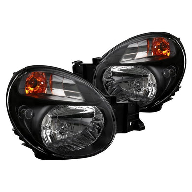 Spec-D OEM Replacement Headlights Subaru WRX Bug Eye (02-03) Black, Chrome or Smoke