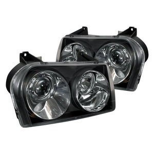 Spec-D Projector Headlights Chrysler 300 [Halo] (2005-2010) Black Housing