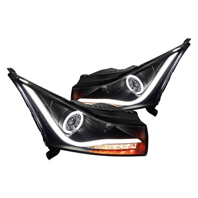 Spec-D Projector Headlights Chevy Cruze [Halo LED] (2011-2014) Black Housing