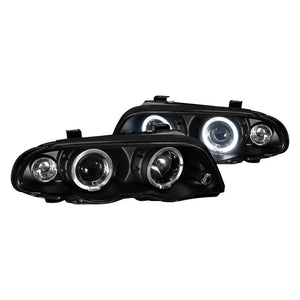 Spec-D Projector Headlights BMW E46 Sedan [Dual Halo LED] (99-01) Black Housing