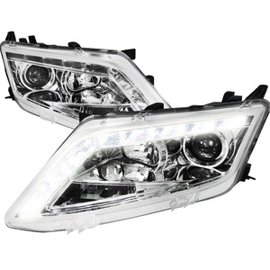 Spec-D Projector Headlights Ford Fusion [LED Halo] (2010-2012) Black or Chrome