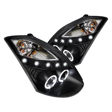 Spec-D Projector Headlights Infiniti G35 Coupe [Halo] (03-07) Black or Chrome