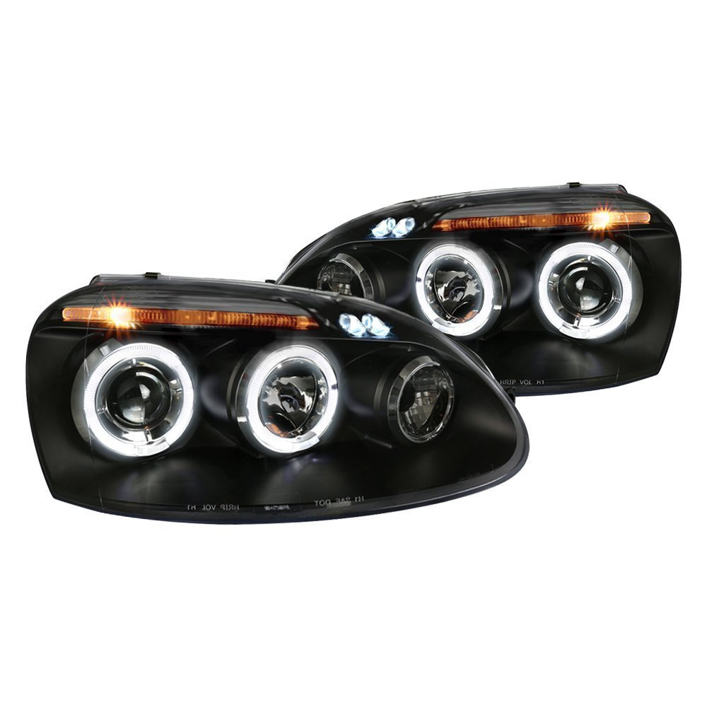 Spec-D Projector Headlights Golf/Rabbit (06-08) Jetta (06-10) MK5 [Halo LED] Black / Chrome
