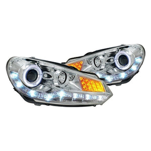 Spec-D Projector Headlights VW Golf MK6 [R8 Style LED] (2009-2012) Black or Chrome