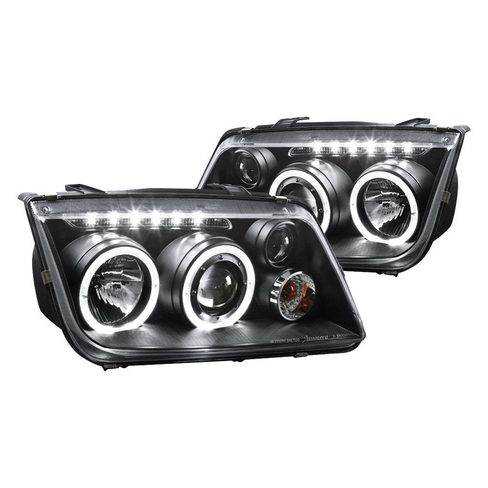 Spec-D Projector Headlights VW Jetta MK4 [Halo DRL] (99-05) Black or Chrome