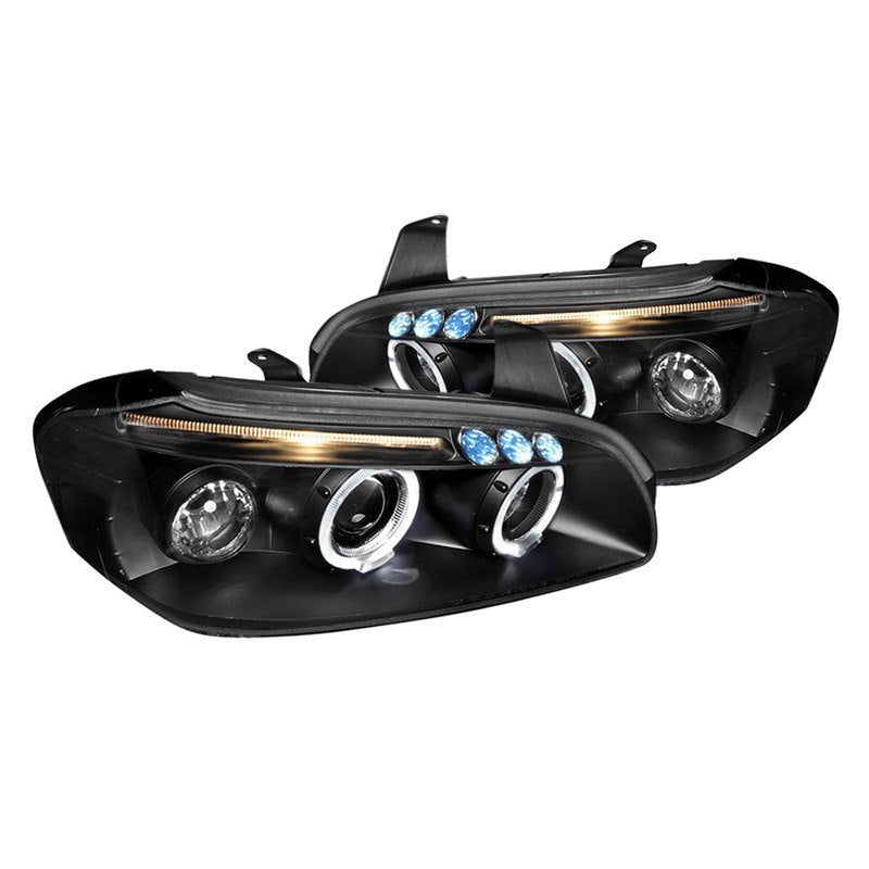 Spec-D Projector Headlights Nissan Maxima [Halo LED] (00-01) Black or Chrome