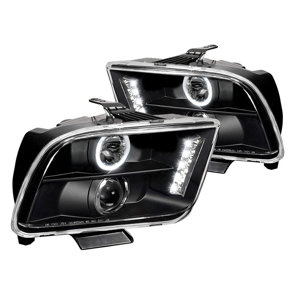 Spec-D Projector Headlights Ford Mustang [Halo LED] (05-09) Black or Chrome