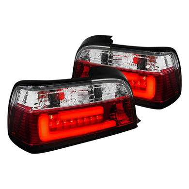 Spec-D LED Tail Lights BMW E36 Coupe 328i / M3 (1992-1998) Red Tint