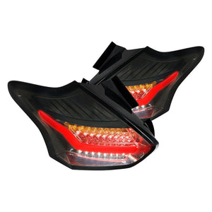 Spec-D LED Tail Lights Ford Focus SE/ST/RS (15-18) Smoke, Red or Clear
