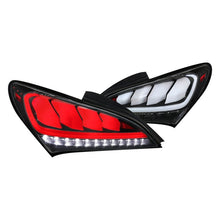 Load image into Gallery viewer, Spec-D Tail Lights Hyundai Genesis Coupe [Sequential] (2010-2015) Black / Red