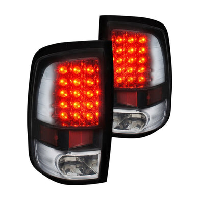 Spec-D LED Tail Lights Dodge Ram (2009-2017) Black / Chrome / Red / Gloss