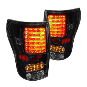 Spec-D Tail Lights Toyota Tundra [LED] (2007-2013) Black, Chrome or Smoked