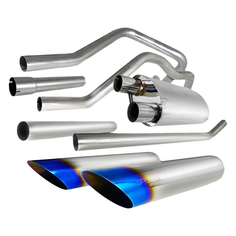 Spec-D Tuning Exhaust Ford F150 V8 [Burnt Tips] (04-08) MFCAT2-F15004-SD