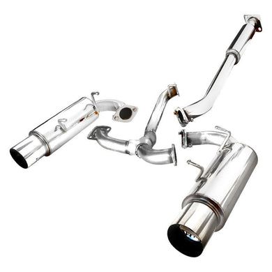 Spec-D Tuning Exhaust BRZ / FRS / 86 (2013-2018) Dual N1 Mufflers Blue Burnt / Polished Tips