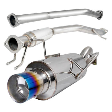 Spec-D Tuning Exhaust Acura RSX Base [Blue Burnt Tips] (02-06) N1 Muffler