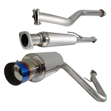 Spec-D Tuning Exhaust Scion tC (2005-2010) Catback N1 Muffler Polished/Blue Burnt Tip