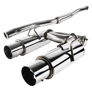 Spec-D Tuning Exhaust Mitsubishi Lancer EVO X (2008-2015) Polished / Blue Burnt Tips