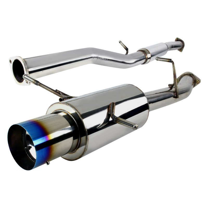 Spec-D Tuning Exhaust Subaru WRX [N1 Muffler] (02-07) Burnt/Polished Tip