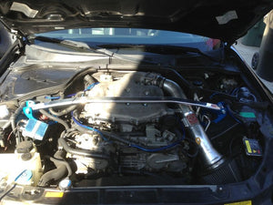 Megan Racing Strut Bar Infiniti G35 [Front - Race Spec] (03-07) Polished Upper