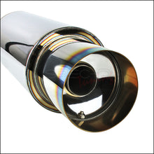 "Load image into Gallery viewer, Spec-D N1 Style Muffler (Blue Burnt or Chrome Tip) 2.5"" Muffler w/ Silencer"
