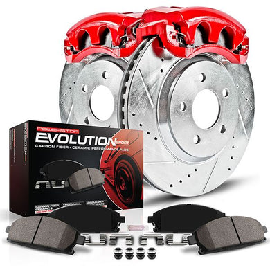 PowerStop Z23 Evolution Sport Brake Rotors + Pads & Calipers Kia Soul 1.6L (10-11) Front Only