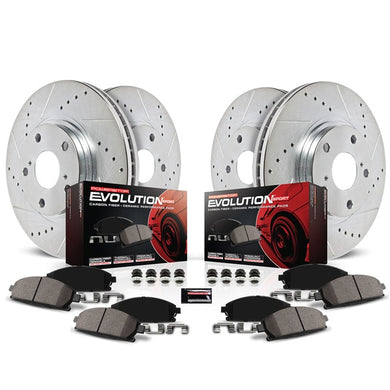 PowerStop Z23 Evolution Sport Brake Rotors + Pads Mercury Mariner w/ Rear Disc Brakes (2008) Front or Rear