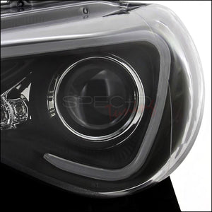 Spec-D Projector Headlights Scion FR-S [LED DRL] (2013-2018) Black or Chrome