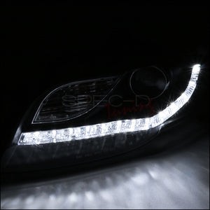 Spec-D Projector Headlights Audi A4 [Black R8 LED Style] (06-08) Version 1