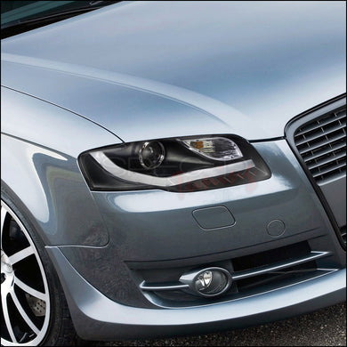 Spec-D Projector Headlights Audi A4 [Black R8 LED Style] (06-08) Version 2