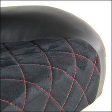 Load image into Gallery viewer, Spec-D Racing Seats [Black Suede / Red Stitch - Reclining Pair) Gray Accents
